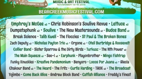 Bear Creek 2014   Chris Robinsons Soulive Revue Among Additions