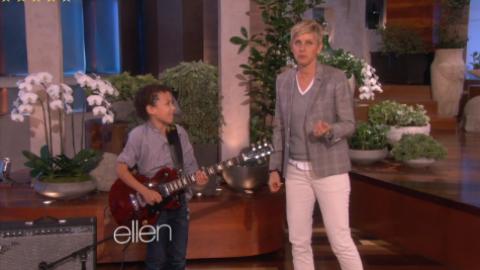 10-Year-Old Guitar Prodigy Brandon Niederauer Visits Ellen