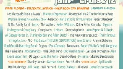 Jam Cruise Reveals Special Guest And DJ Additions