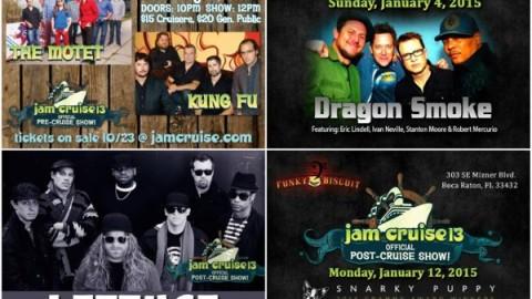Jam Cruise 13 Pre & Post Shows Announced