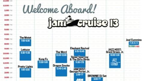 Jam Cruise 13 Schedule Revealed