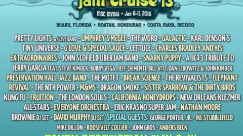 Jam Cruise 13 Initial Lineup Revealed