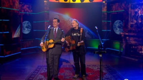 DVR Rewind | Neil Young Jams With Stephen Colbert