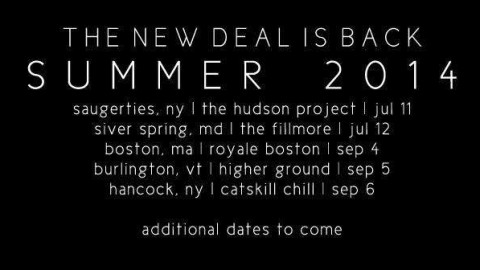 The New Deal Announces More Summer Shows
