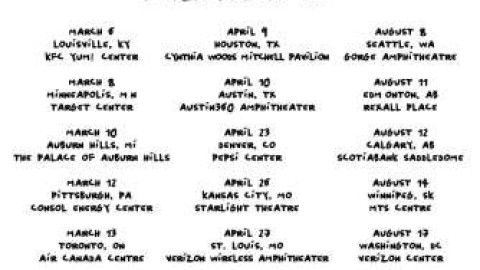 Tour Dates | Arcade Fire Reflektor North American Dates
