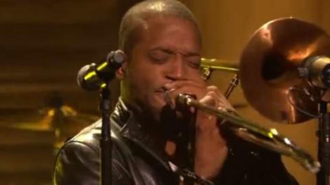 DVR Rewind   Conan Flips Over Trombone Shorty Performance