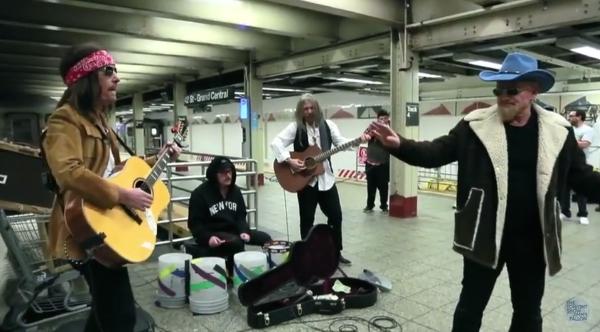 DVR Rewind | U2 Busks At NYC Subway Station For Fallon