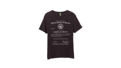 Dweezil Cease & Desist T-Shirt Crop