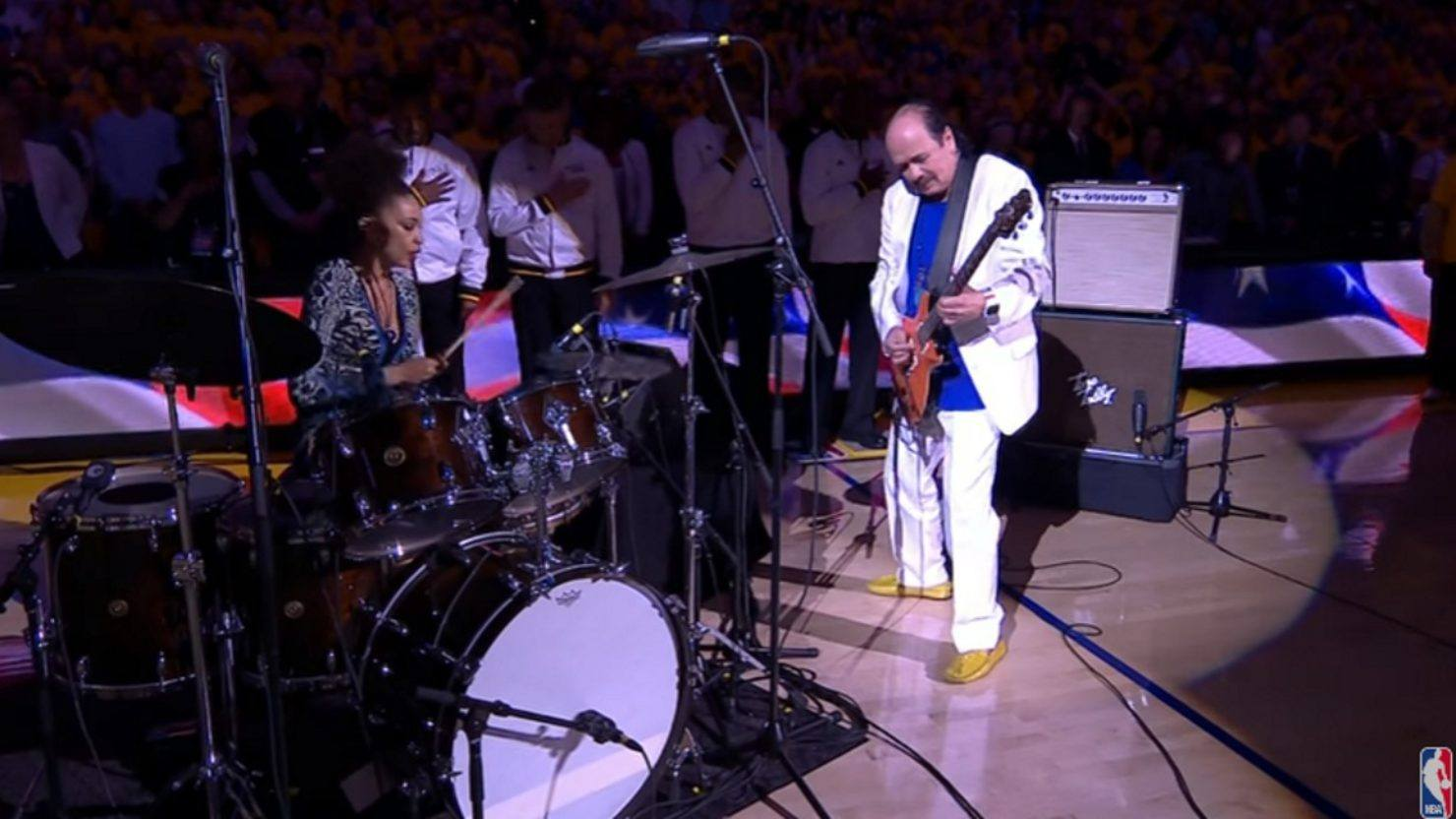 Carlos Santana Channels Hendrix For NBA Finals Game 2 National Anthem