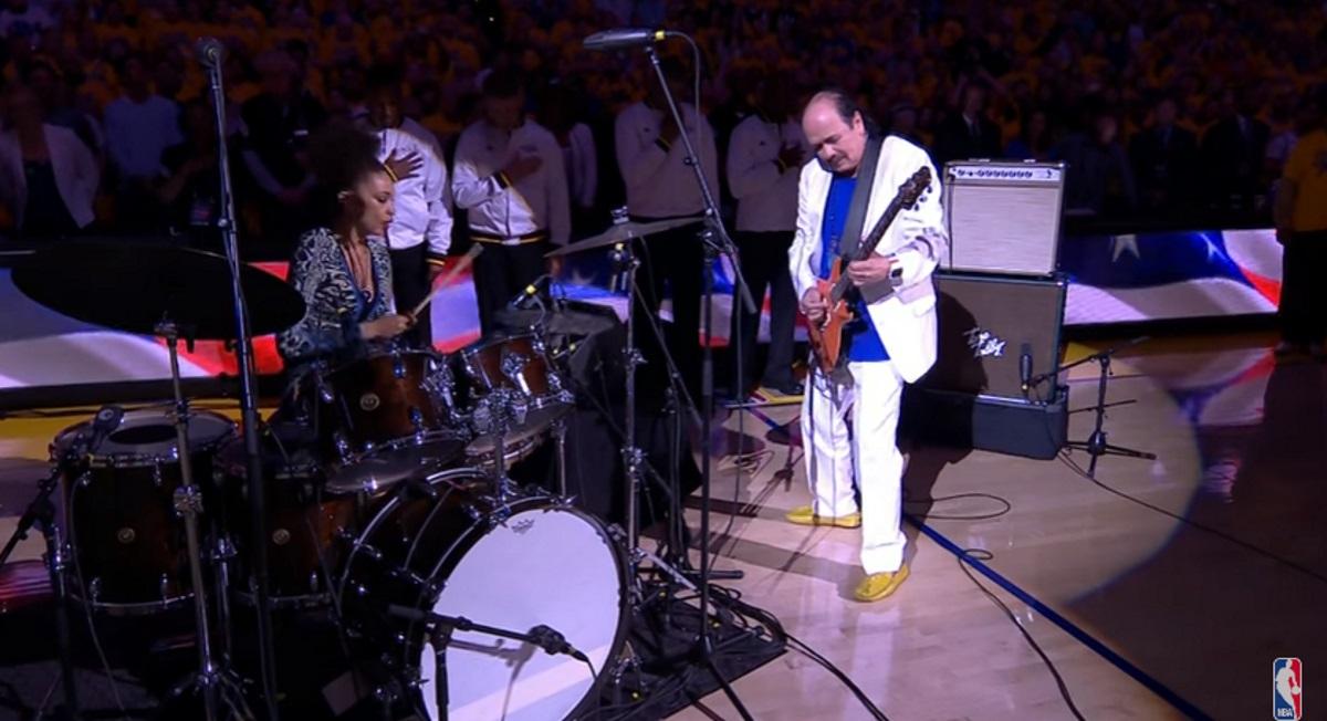 Carlos Santana Channels Hendrix For NBA Finals Game 2 National Anthem