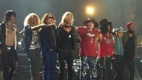 Original drummer steven adler guests with guns n roses at dodger original drummer steven adler guests with guns n roses at dodger stadium fandeluxe Image collections