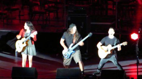 Rodrigo y gabriela welcomes members of metallica megadeth at watch mexican duo rodrigo y gabriela perform a metallica classic with the help of bassist robert trujillo on sunday at the hollywood bowl fandeluxe Image collections