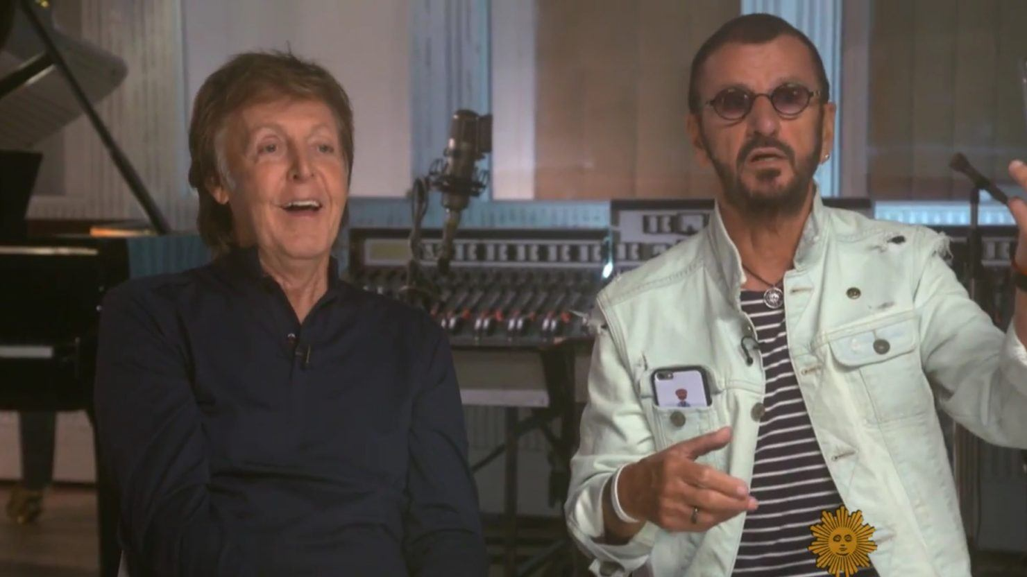 Image result for Paul McCartney and Ringo Starr  CBS Sunday Morning