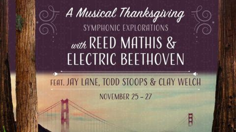 73bbbaf382 Reed Mathis & Electric Beethoven Announce Thanksgiving Weekend Shows ...