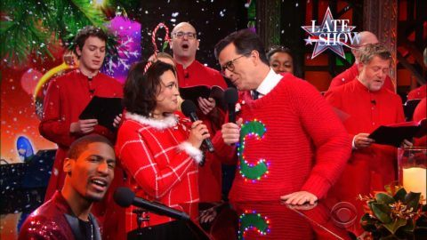 norah jones announced a tour sang an enthralling cover of the late show and joined the host for what just might be the worst holiday song ever - 69 Boyz Christmas Song
