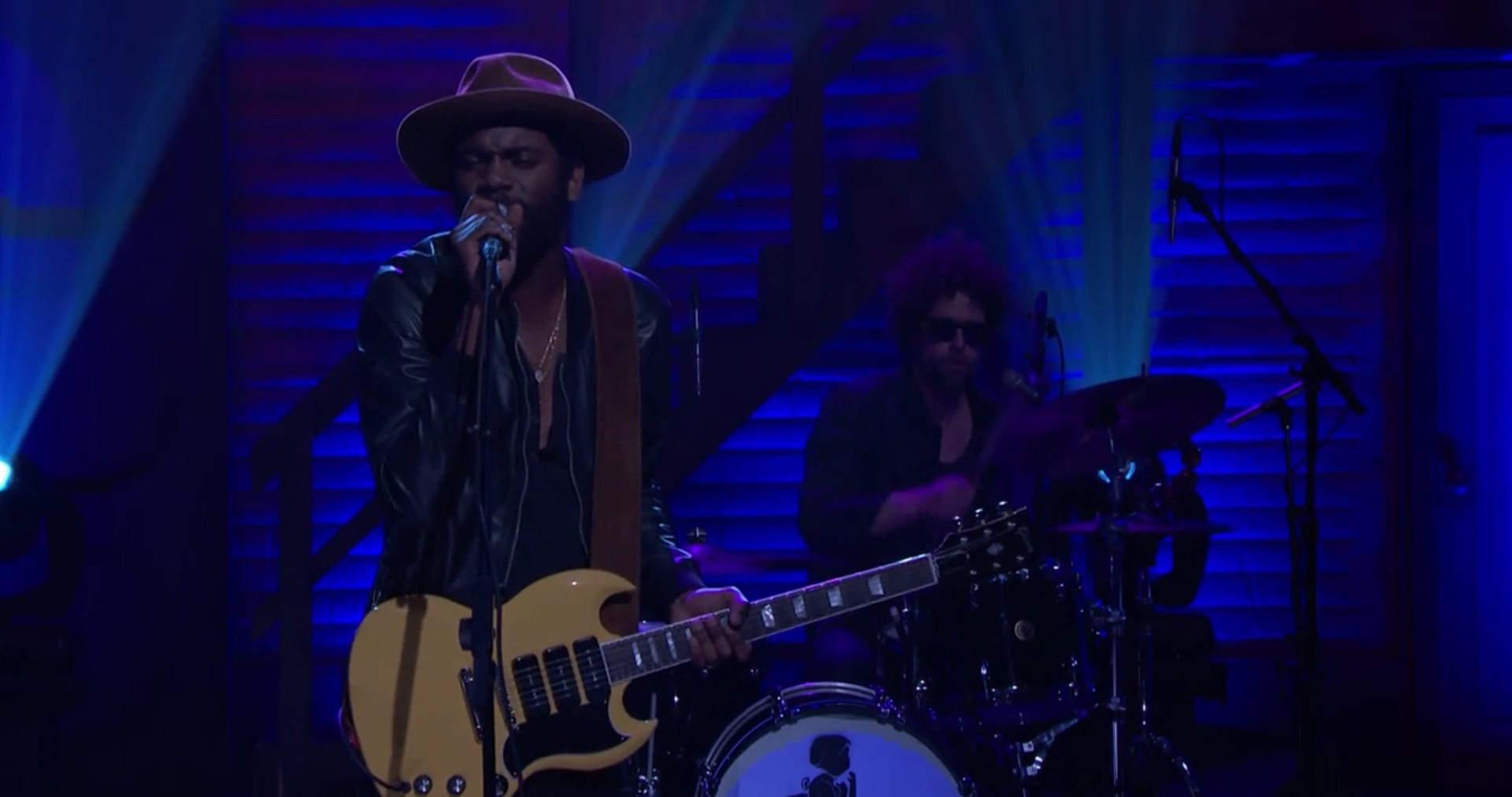 Image result for gary clark jr. conan o'brien show