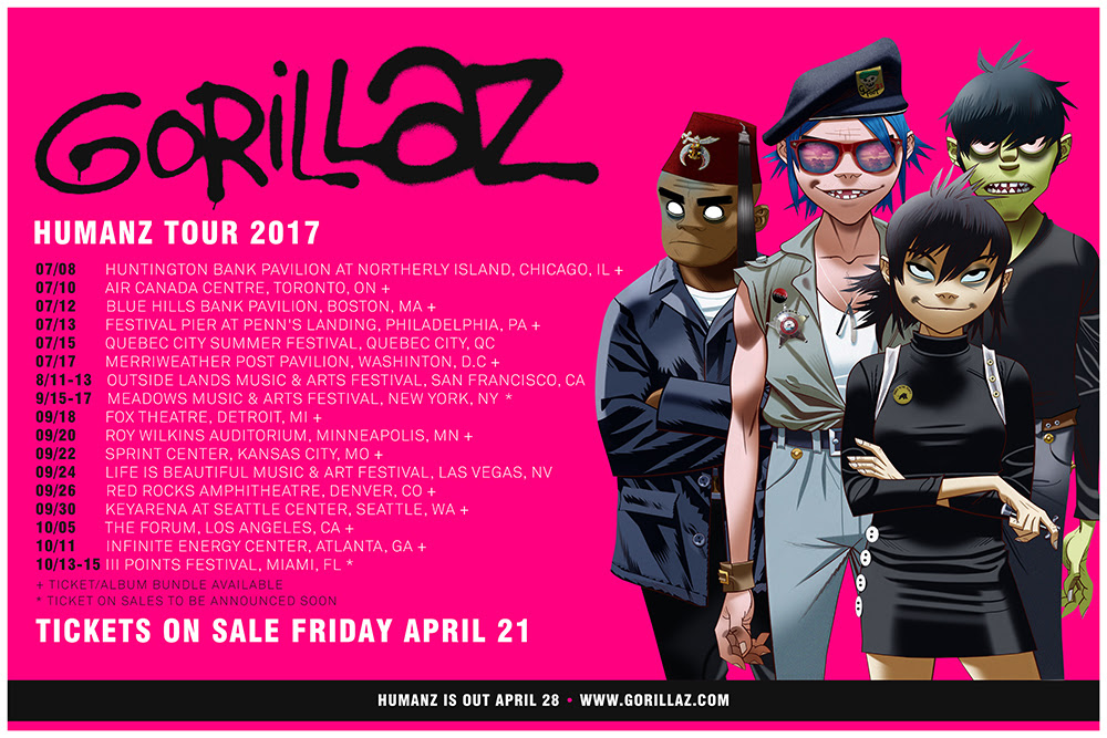 Gorillaz Tour 2020 Usa Top 10 Punto Medio Noticias | Gorillaz Tour 2020 Usa