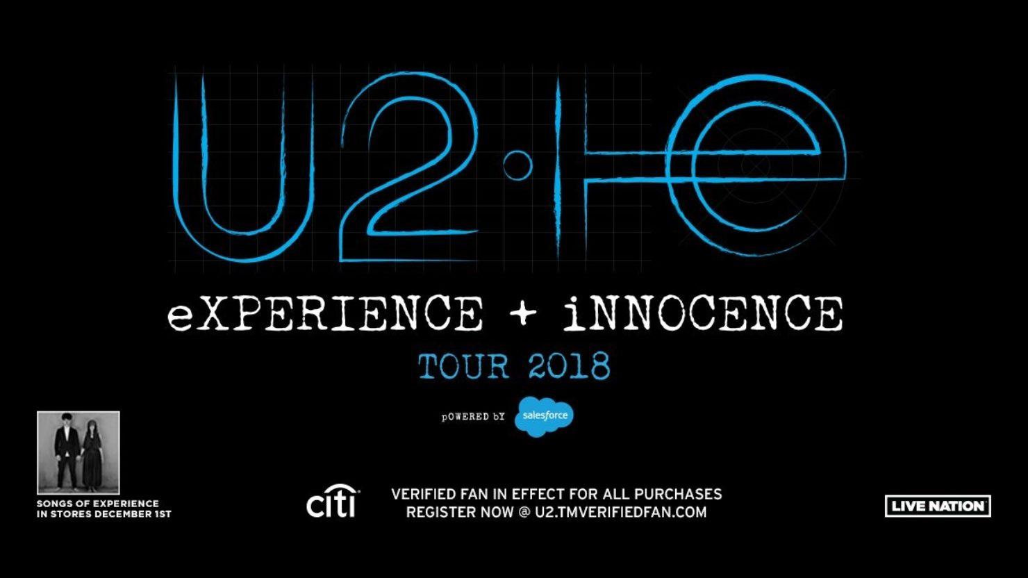 U2 Announces 2018 North American Tour Dates New Album