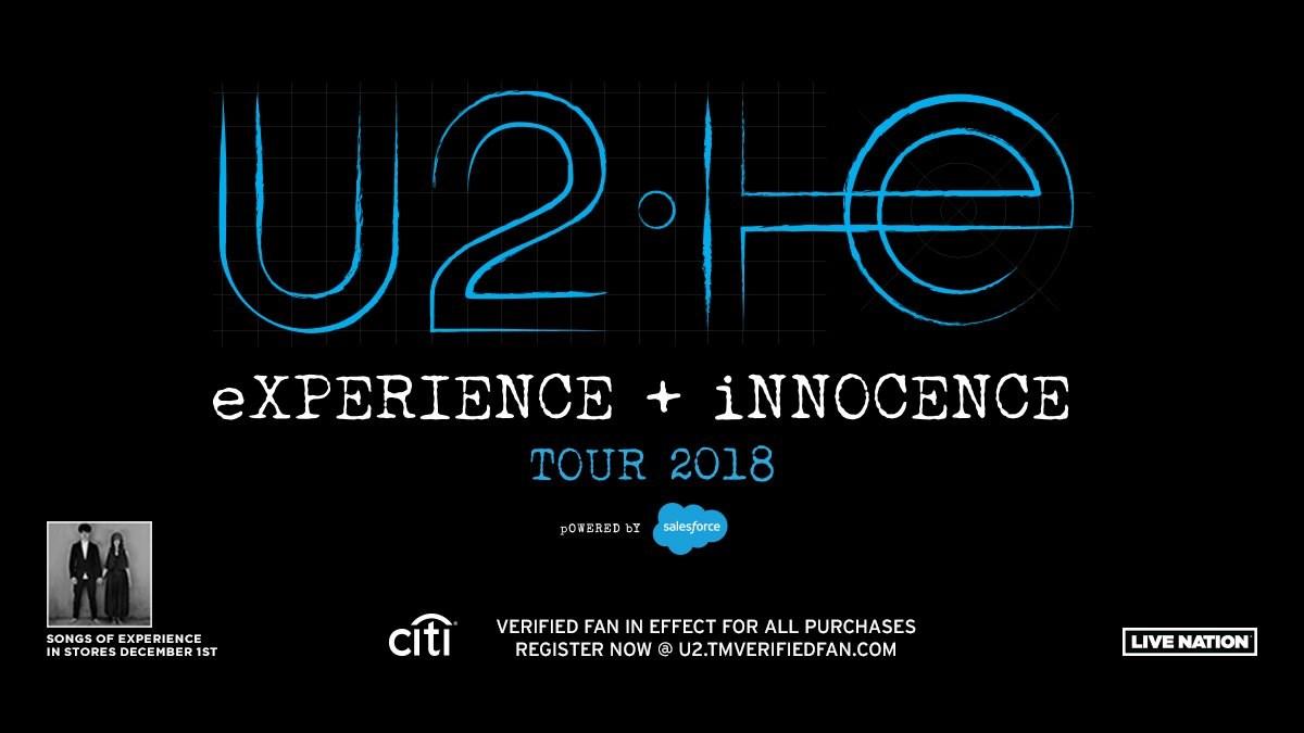 U2 Announces 2018 North American Tour Dates & New Album