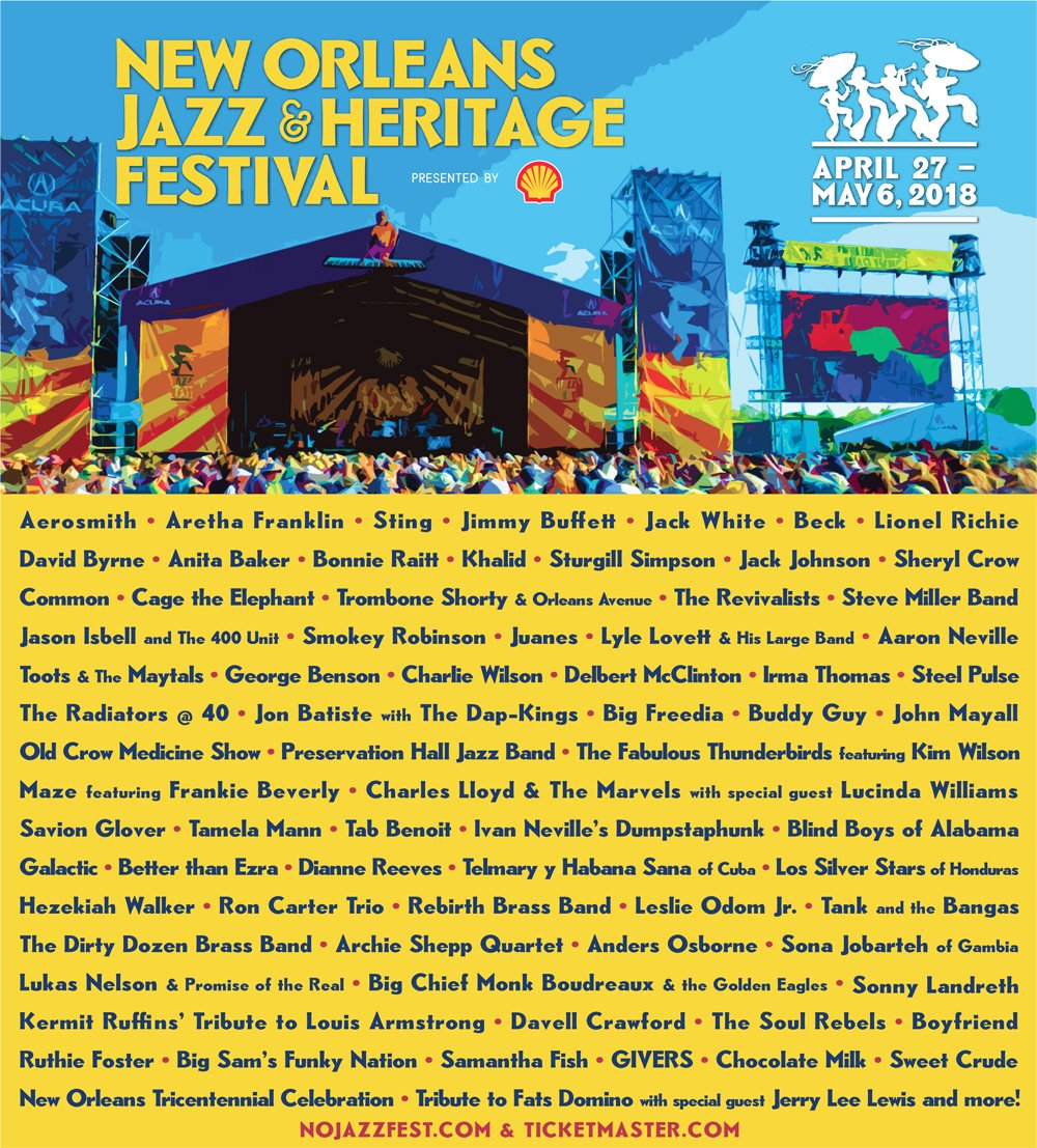 New Orleans Jazz Fest 2018 >> Contest New Orleans Jazz Heritage Festival