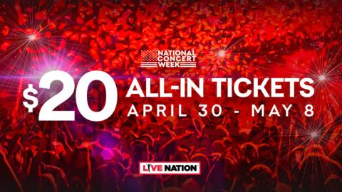 Live Nation National Concert Week Offers Discount 20 Tickets