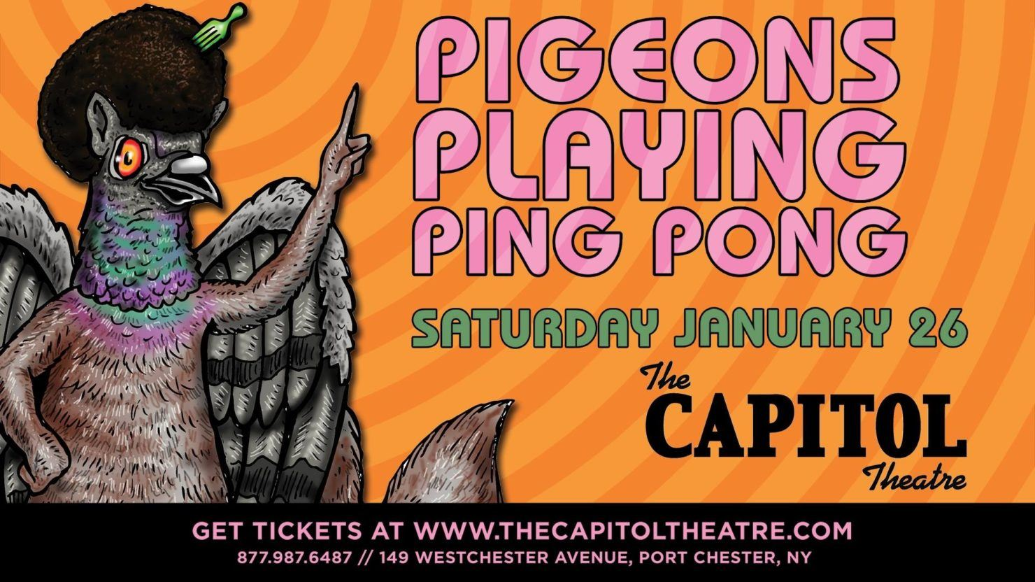 Pigeons Playing Ping Pong To Make The Capitol Theatre Debut