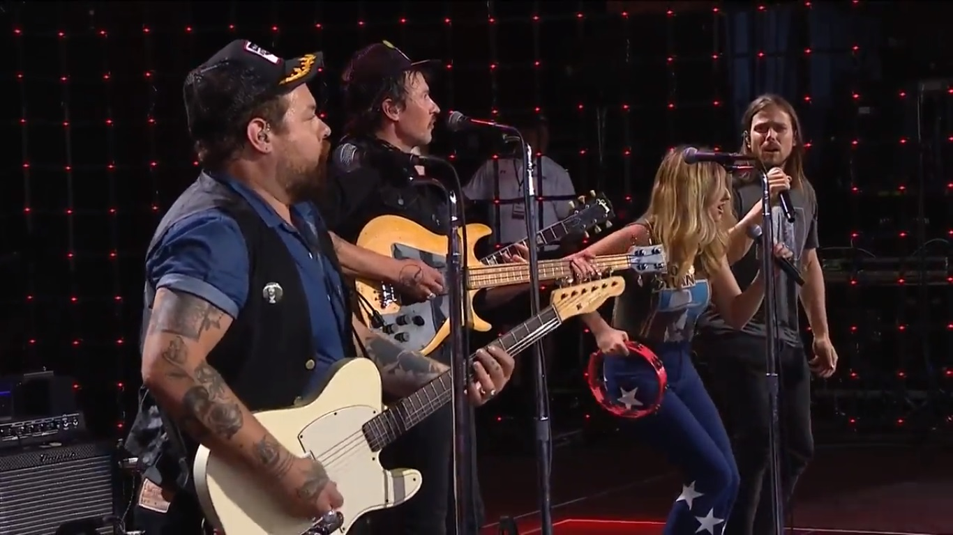 Margo Price & Lukas Nelson Team With Nathaniel Rateliff & The Night Sweats At Farm Aid