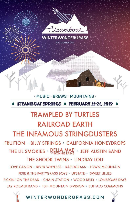 WinterWondergrass Colorado Steamboat 2019 Lineup