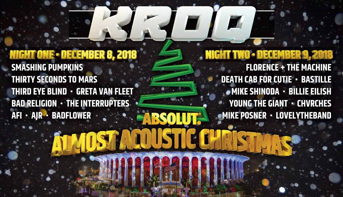 Kroq Christmas 2019 KROQ Announces Almost Acoustic Christmas 2018 Lineup