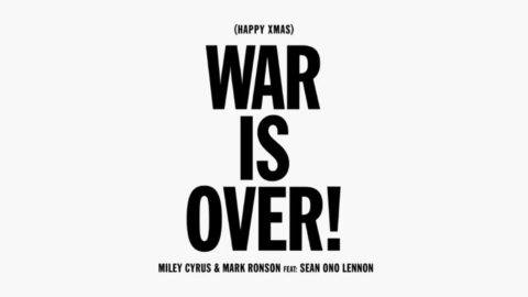 Miley Cyrus Sean Lennon Mark Ronson Happy Xmas