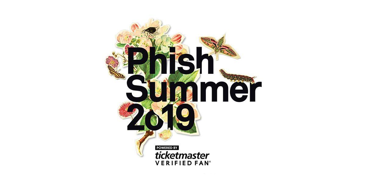 Phish Summer Tour 2019 Ticketmaster Verified Fan Tickets