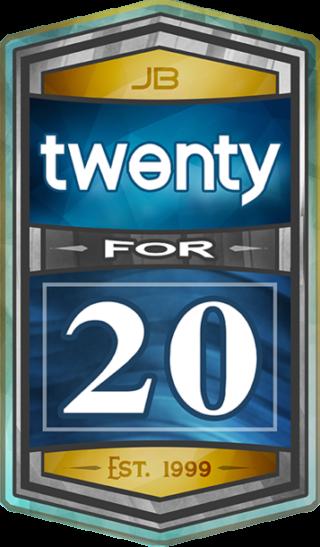 JB 20 Logo on Blue -Isolated