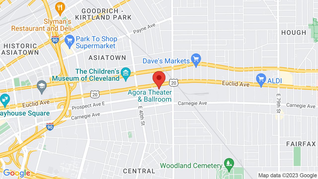 Map for Agora Ballroom