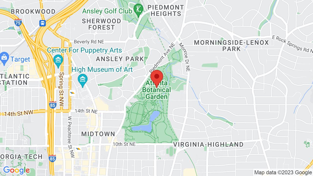 Map for Atlanta Botanical Garden
