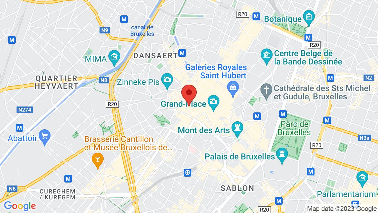 Map for Ancienne Belgique