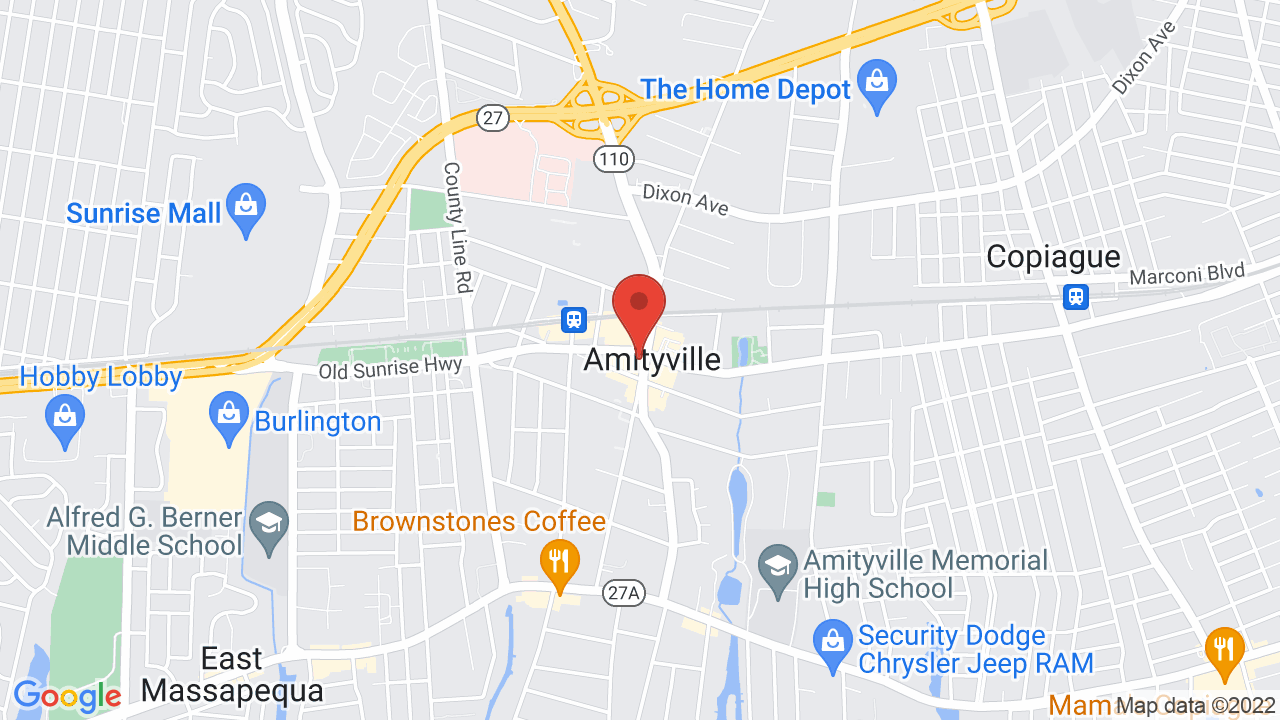 Map for Amityville Music Hall