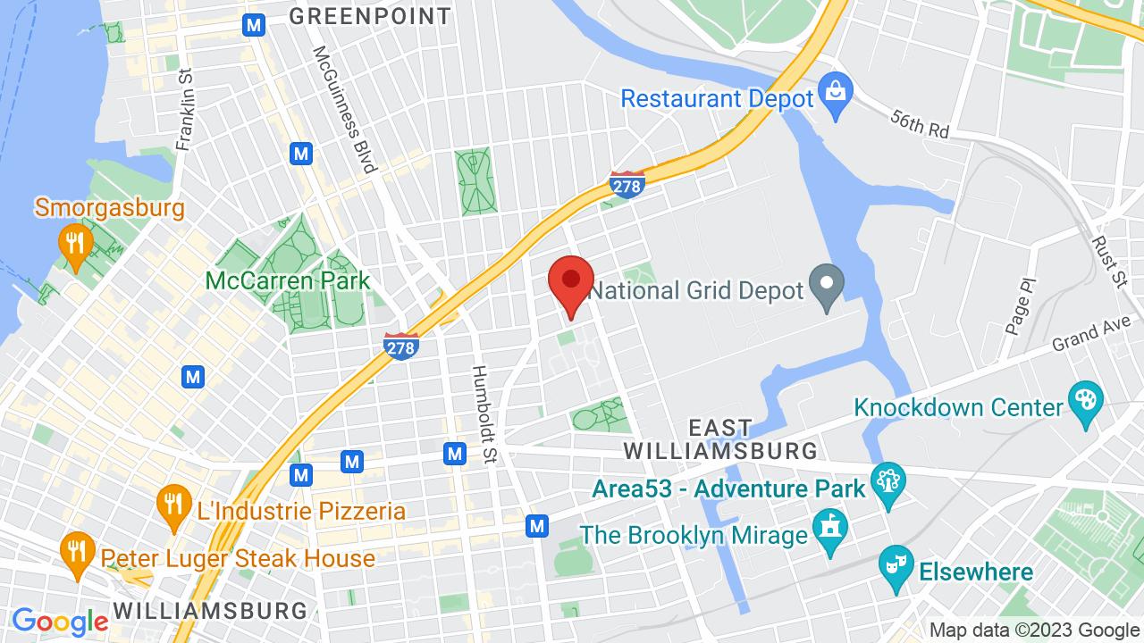 Map for Brooklyn Steel