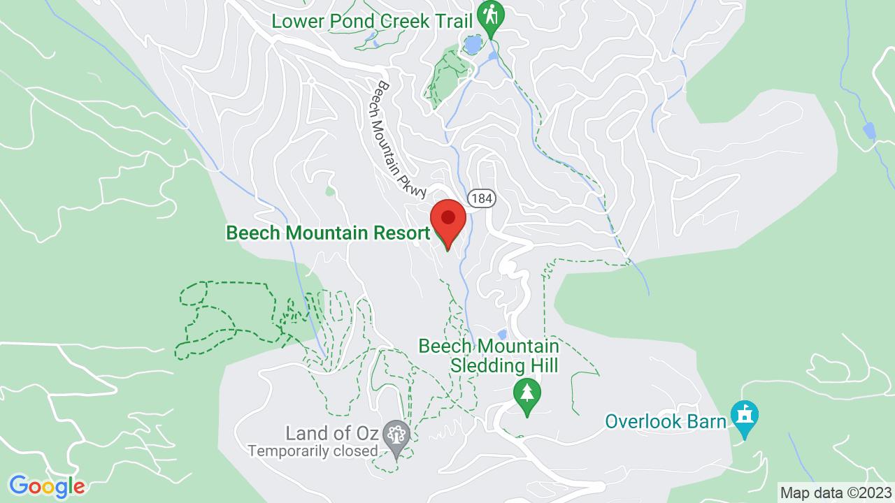 Map for Beech Mountain Resort