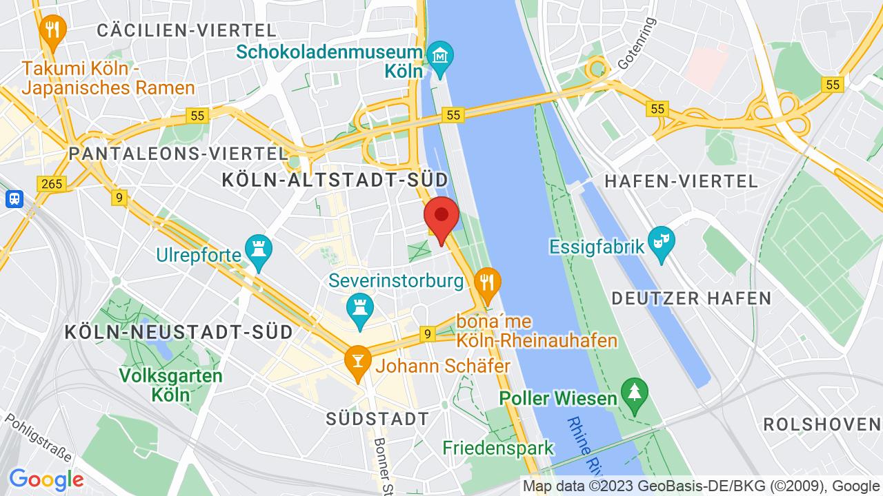 Map for Burgerhaus Stollwerck