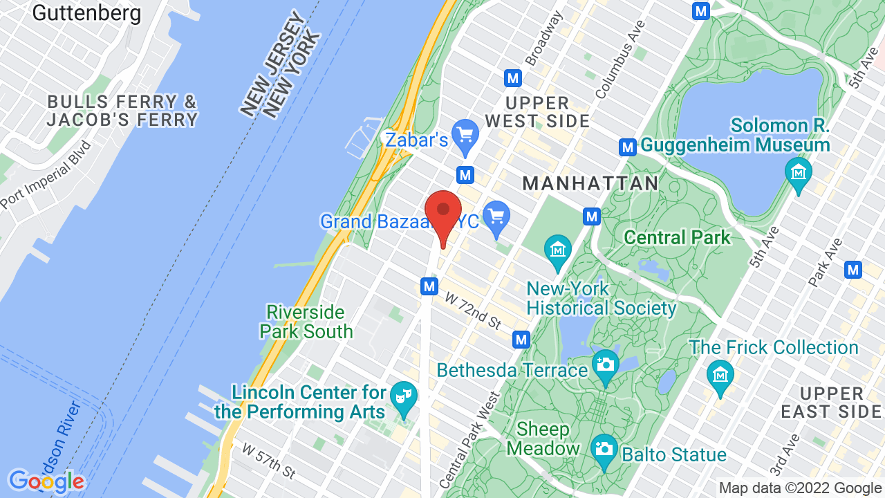 Map for Beacon Theatre