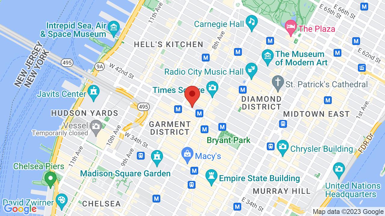 Map for B.B. King Blues Club & Grill