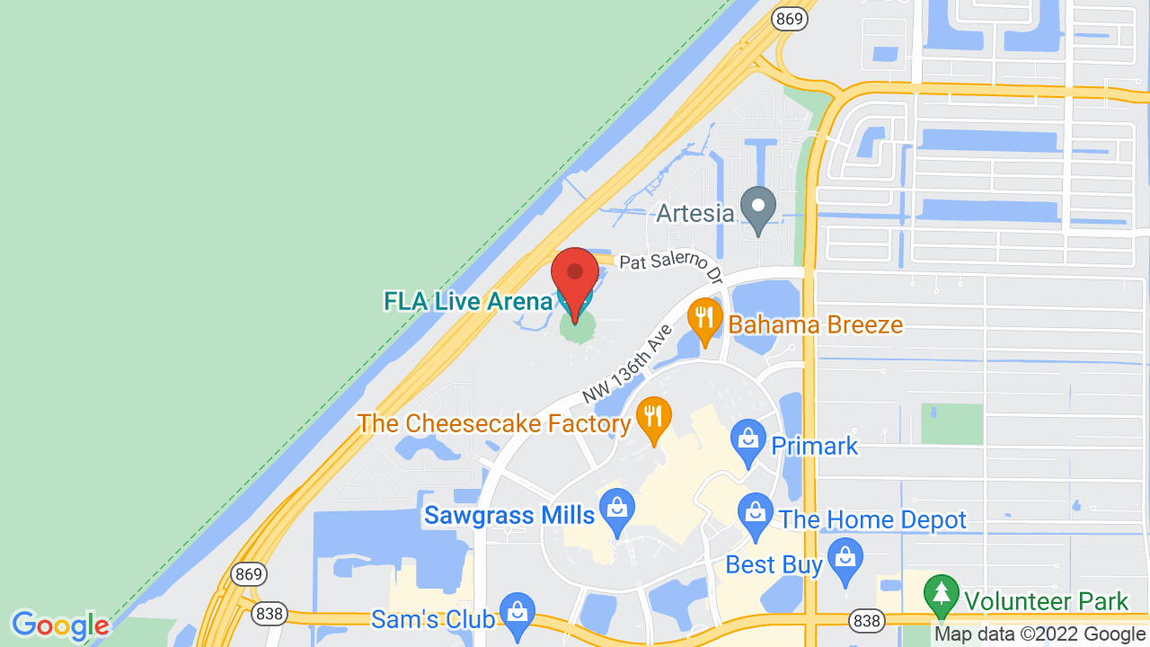 Map for BB&T Center