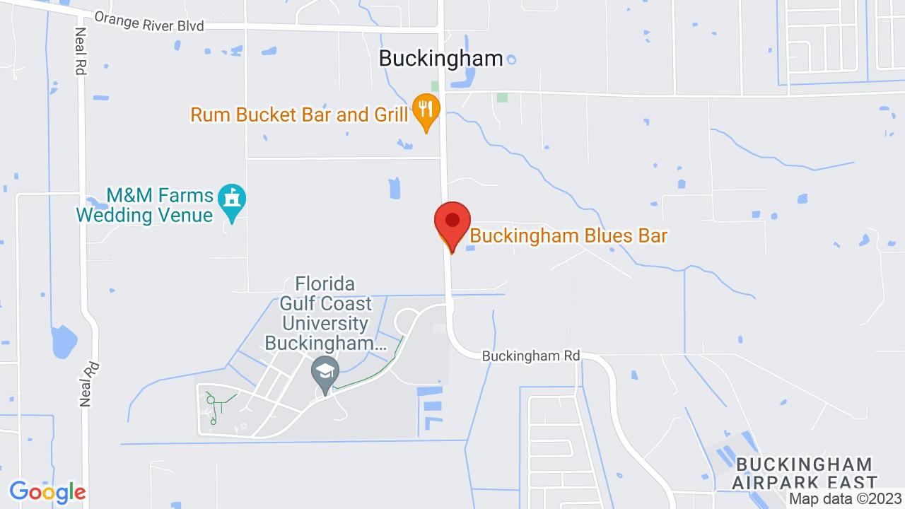 Map for Buckingham Blues Bar