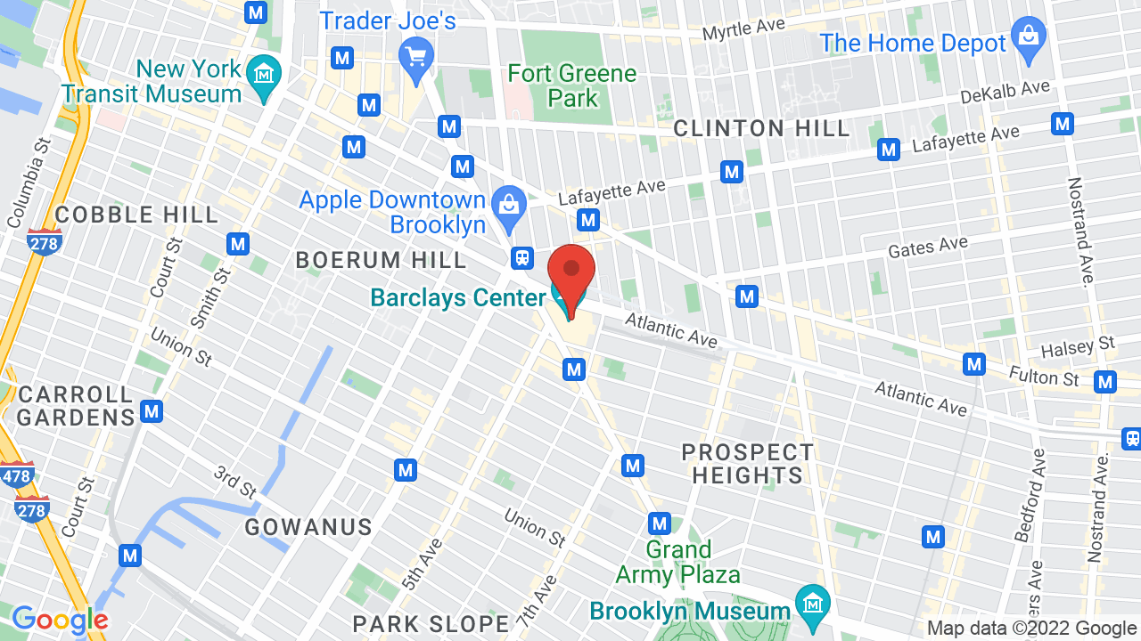 Map for Barclays Center