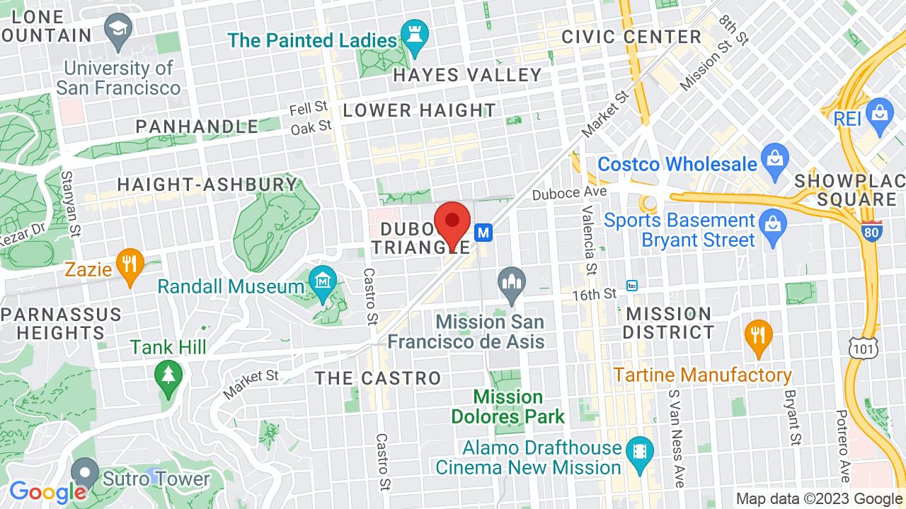 Map for Cafe du Nord