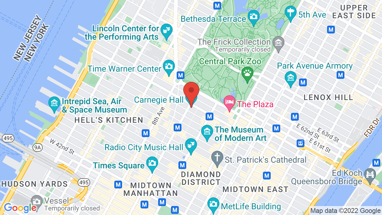 Map for Carnegie Hall