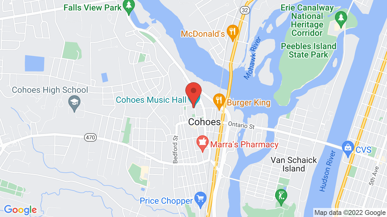 Map for Cohoes Music Hall