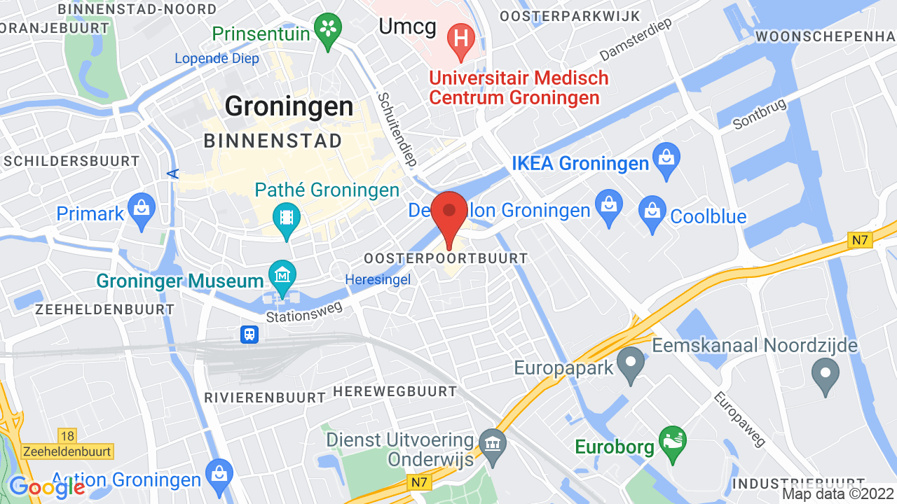 Map for Culturecentrum de Oosterpoort