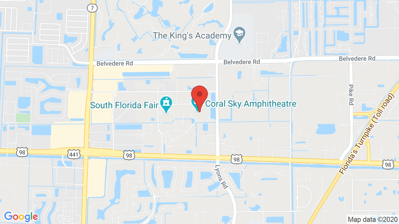 Map for Coral Sky Amphitheatre at the South Florida Fairgrounds