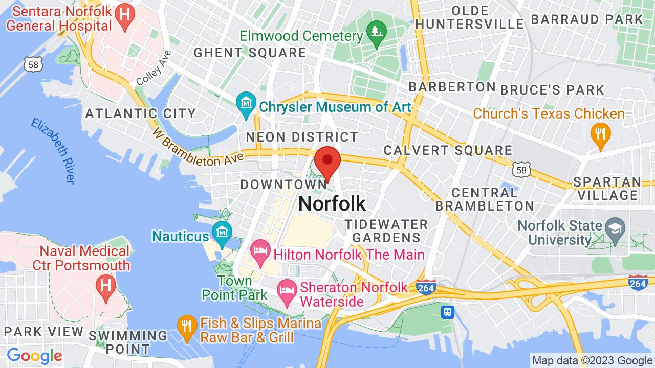 Map for Chrysler Hall